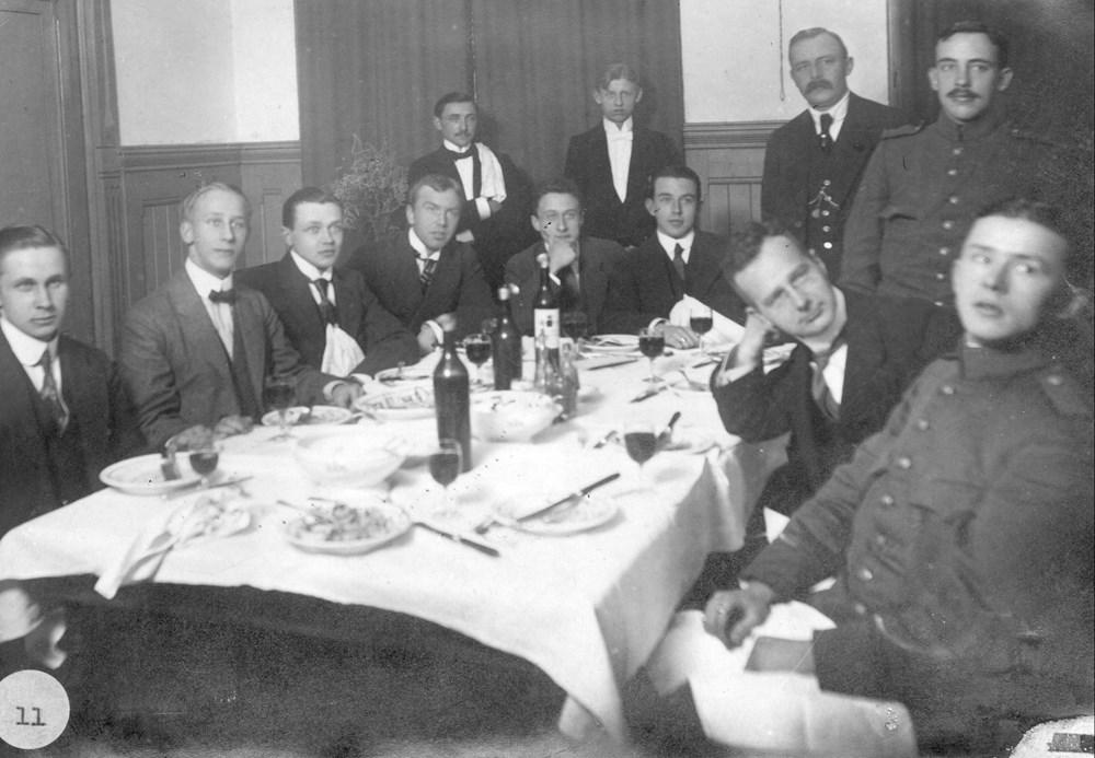 1916 Verenigingsleven Diner na de wedstrijd tegen Quick Amersfoort
