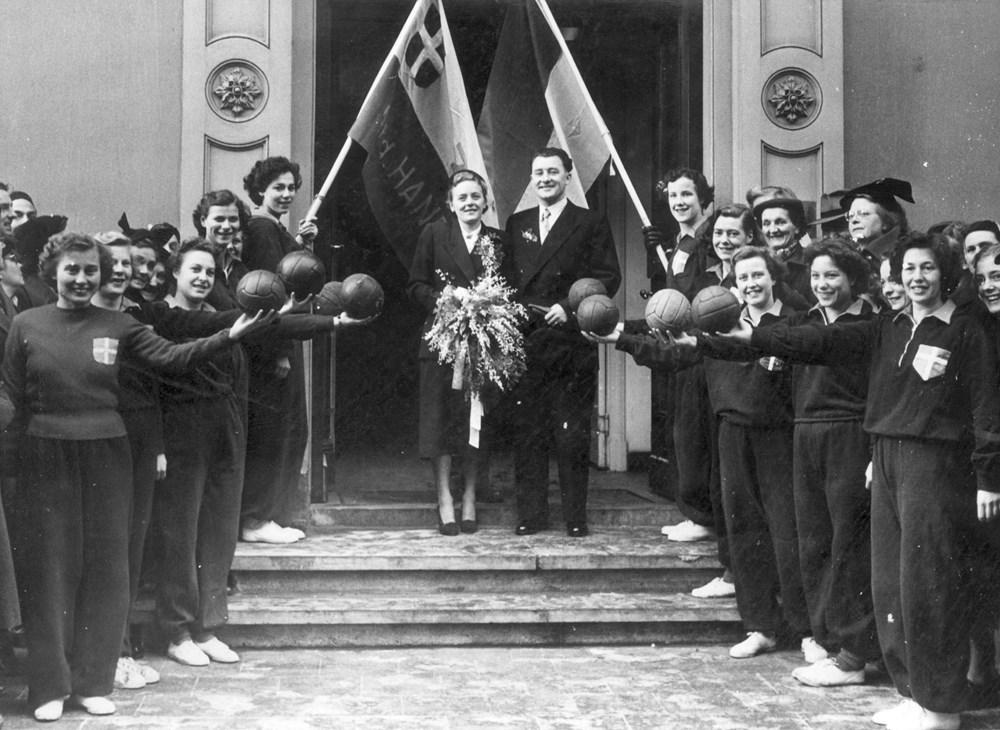 1952 Verenigingsleven Handbalhuwelijk
