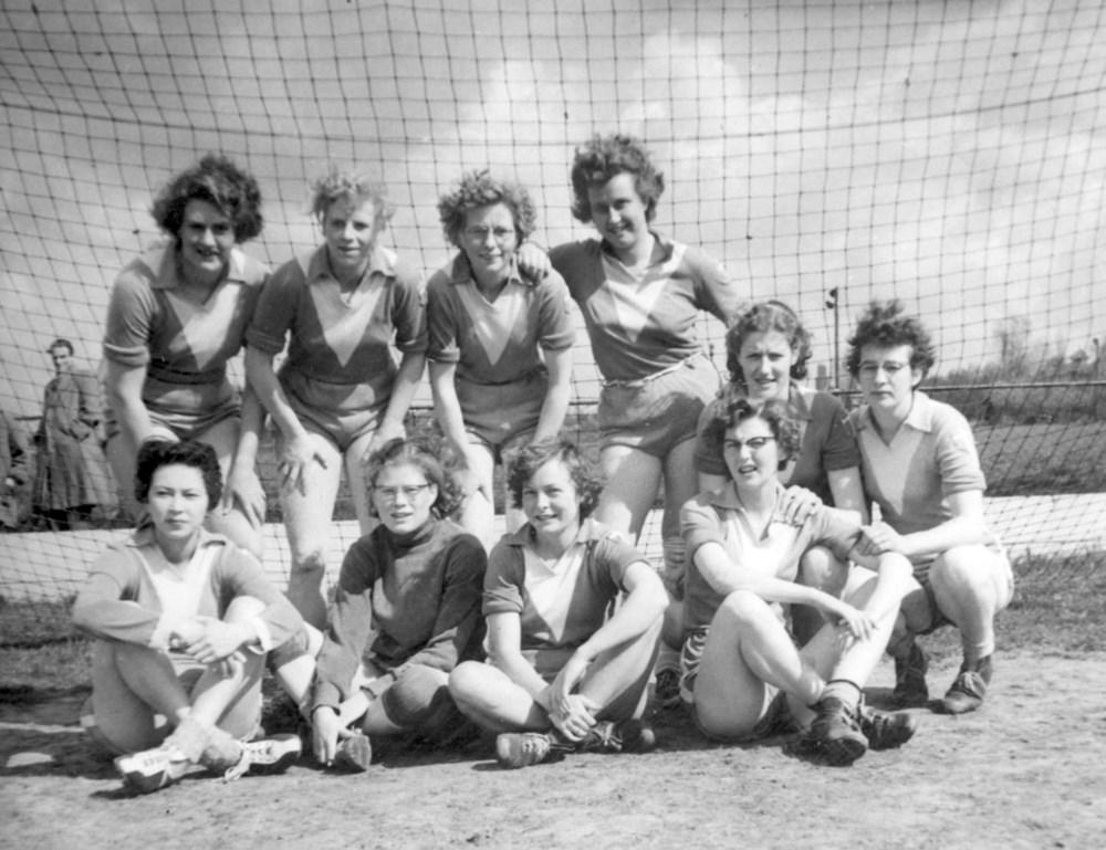 1956 Handbal Z.A.C. Dames 1