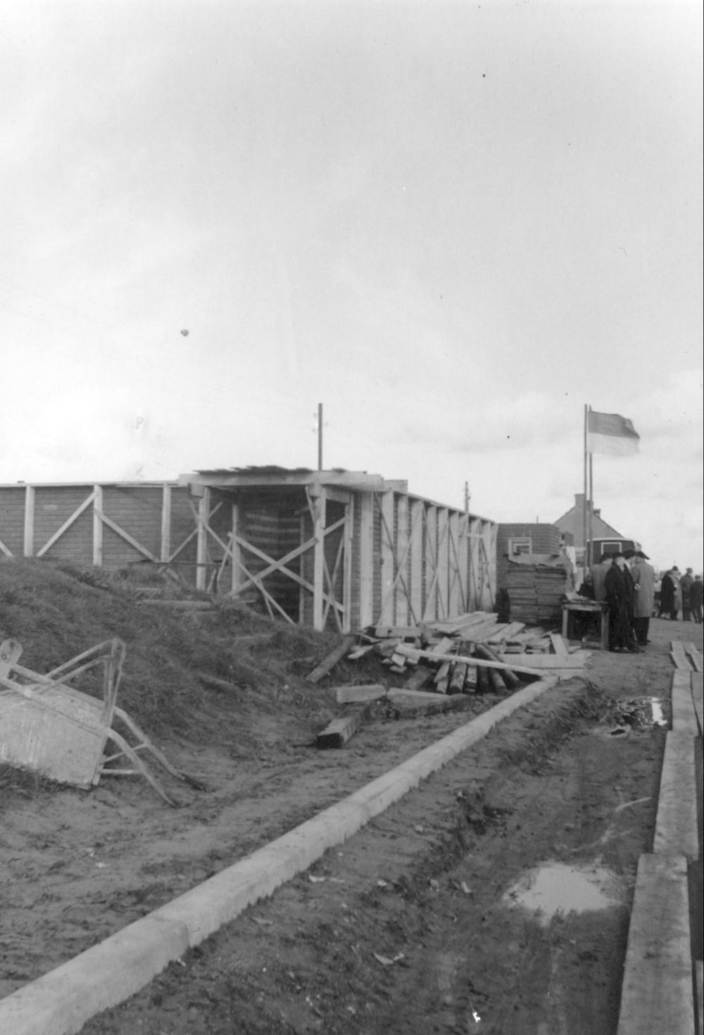 1958 Verenigingsleven Bouw nieuwe tribune