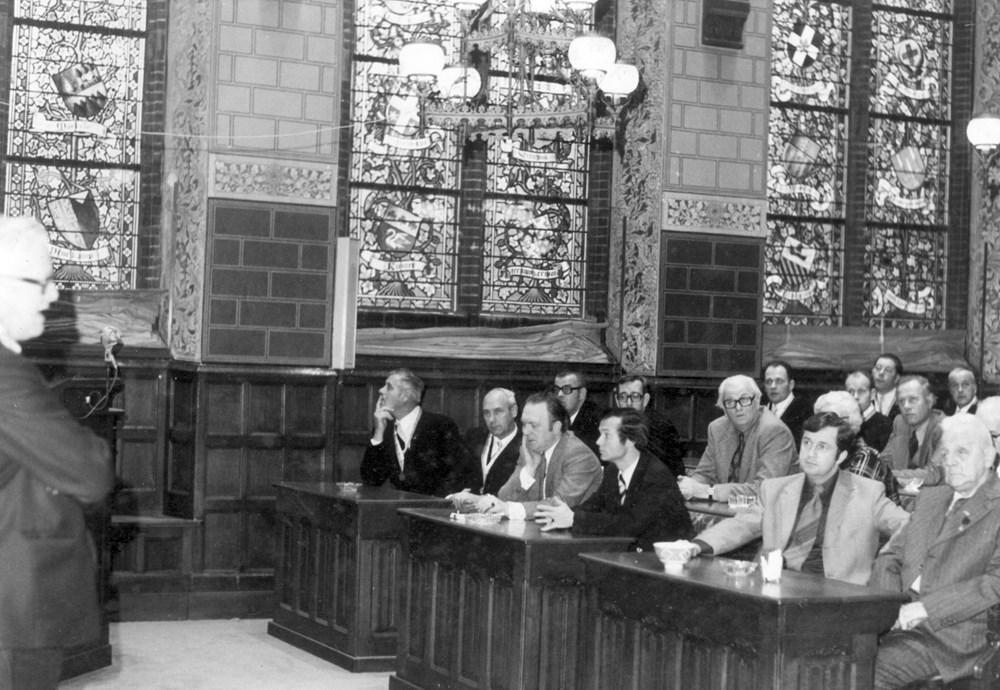 1973  Verenigingsleven Ontvangst Z.A.C.-reünisten door het gemeentebestuu