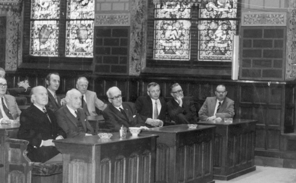 1973  Verenigingsleven Ontvangst Z.A.C.-reünisten door het gemeentebestuur
