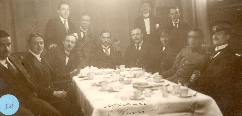 1918 Verenigingsleven Diner t.g.v. het afscheid van Wim de Herder.