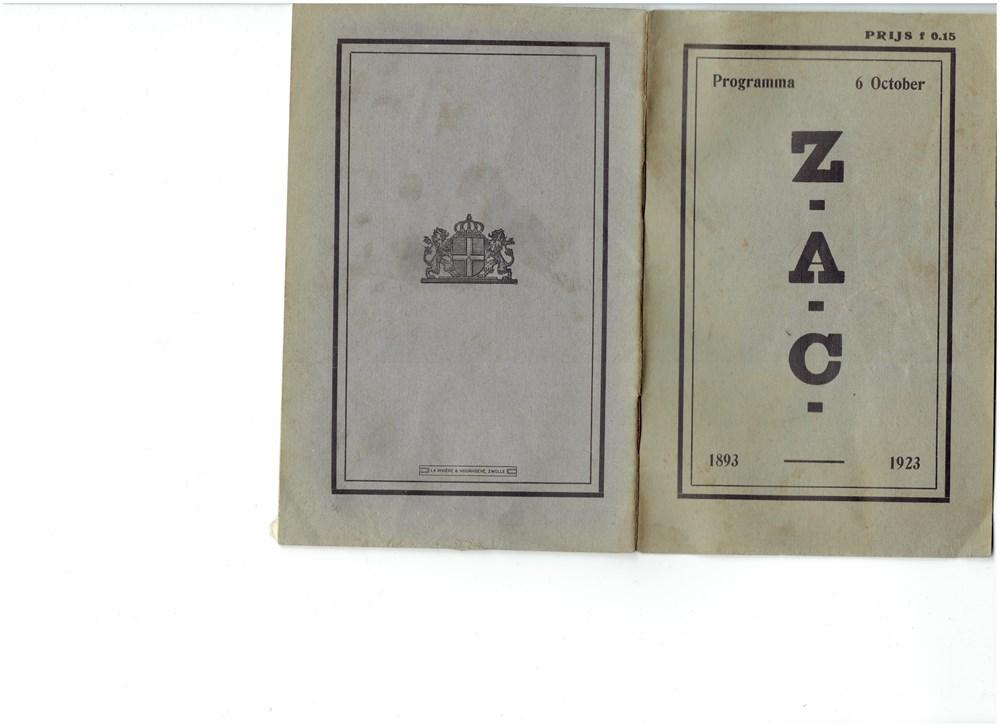1923 Programmaboekje van de revue op 6 oktober 'Dat moet je niet wegdoen'
