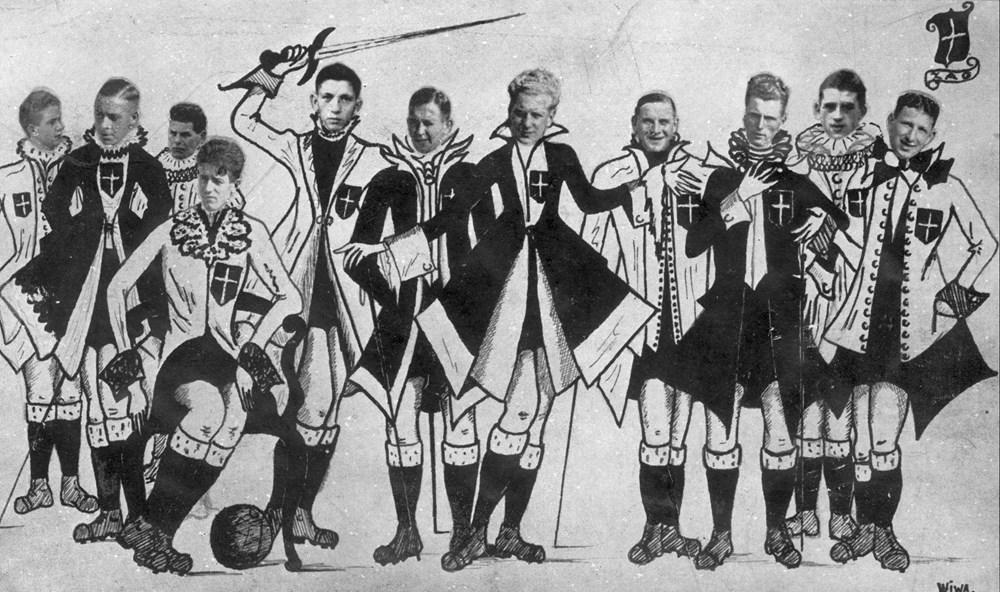 1937 Verenigingsleven Z.A.C. 1 in karikatuur