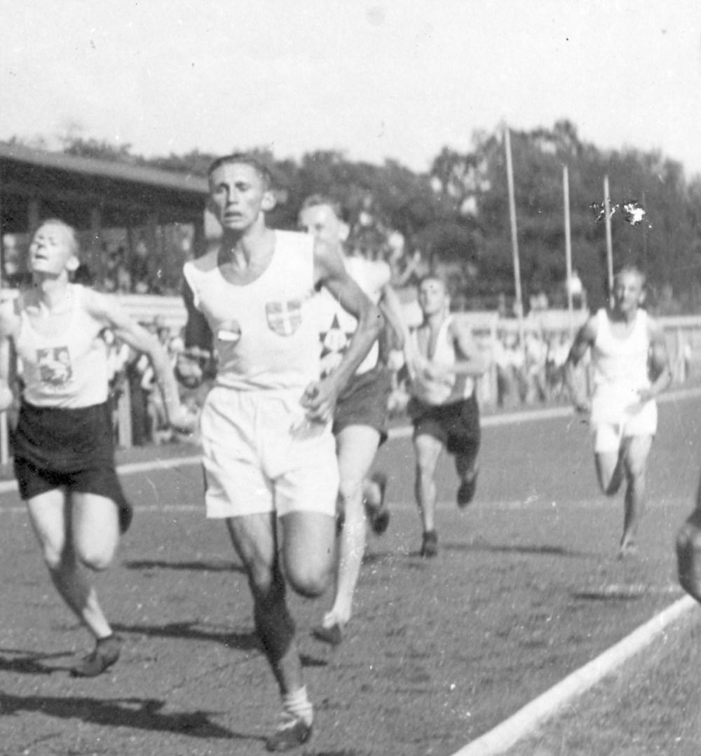 1947 Atletiek 5 districtenwedstrijd in Utrecht