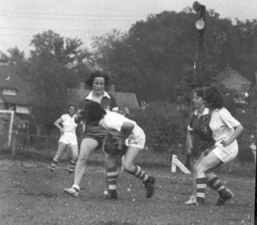 1950 Handbal Z.A.C. Dames 1 promotiewedstrijd tegen 'Vriendschap'