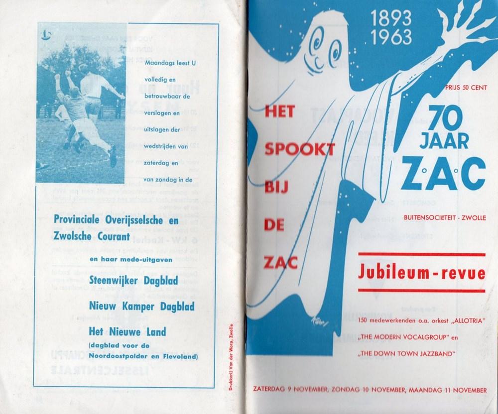 1963 Programmaboekje van de revue 'Het spookt bij de Z.A.C.'