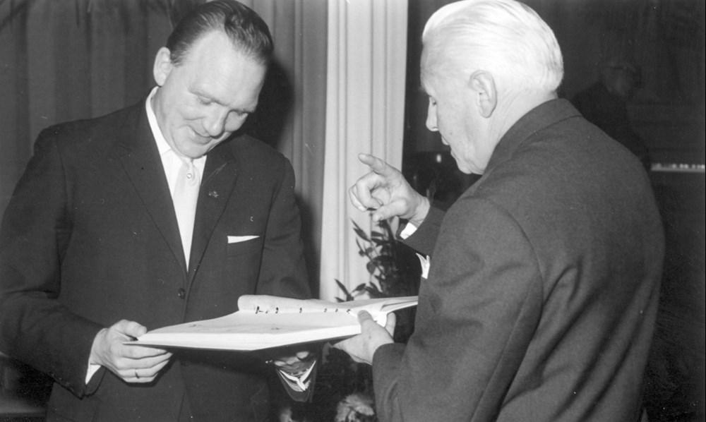 1966 Verenigingsleven Afscheid Jo van Marle als voorzitter en bestuurslid