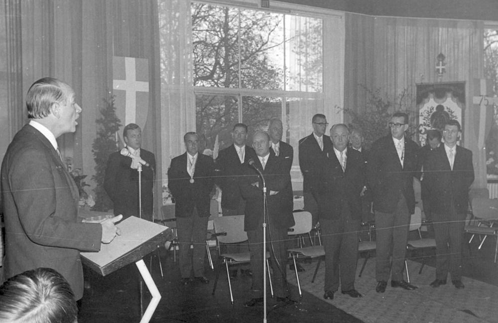 1968 Verenigingsleven Receptie Z.A.C. 75 jaar