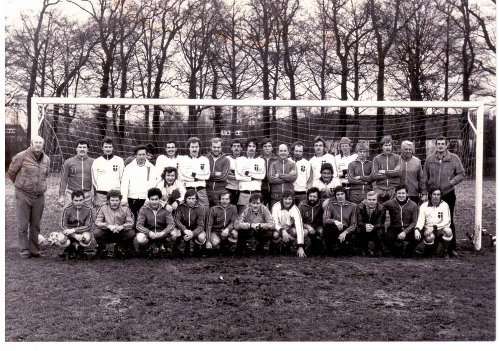 1981 Voetbal De selectie van ZAC