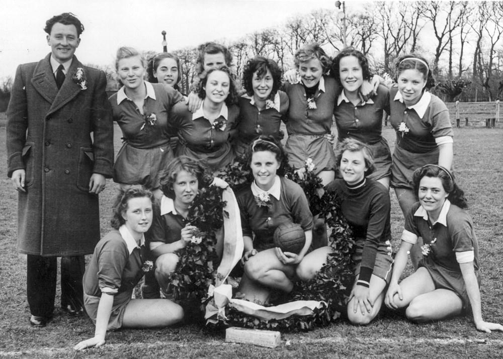 1950 Handbal Z.A.C. Dames 1 oostelijk kampioen